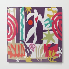 Inspired to Matisse (violet) Metal Print