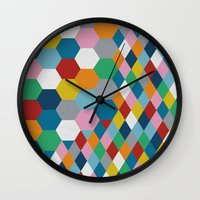 honeycomb Wall Clocks featuring Honeycomb by Project M