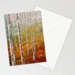 Birch Tree Forest Stationery Cards
