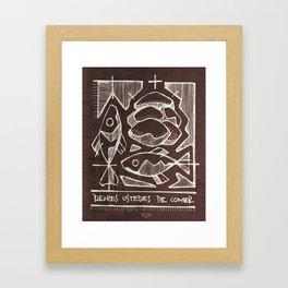 Eucharist Sacrament illustration Framed Art Print