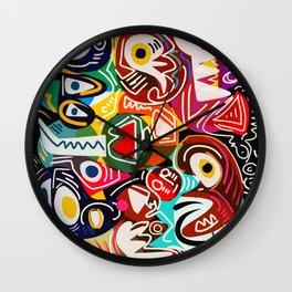Life is beautiful street art graffiti Wall Clock