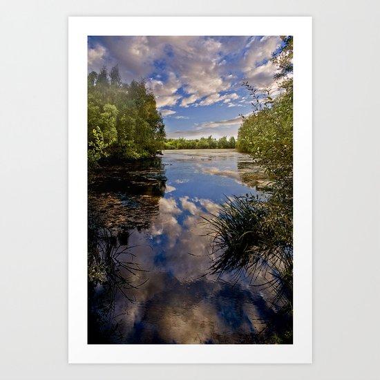 Fenland Reflections Art Print