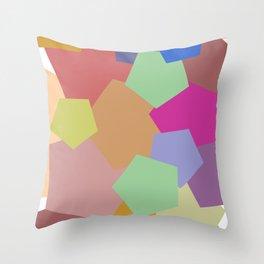 Colliding Colors Throw Pillow