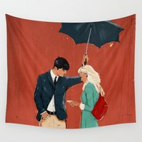 broadway Wall Tapestries featuring Broadway Bus Stop by Stephan Parylak
