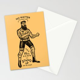 STAND UP AND TRY AGAIN Stationery Cards