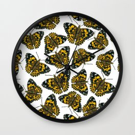 Painted lady butterfly pattern Wall Clock