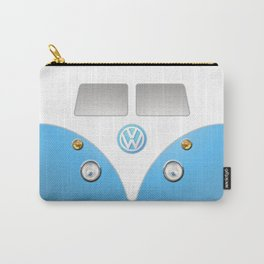 Blue VW Volkswagen Mini Van Bus Carry-All Pouch