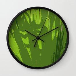 Five Shades  Of Green Wall Clock