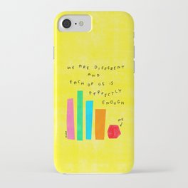 We Are Perfectly Enough - Self Love Mental Health Awareness Quotes Colorful Positive Illustration iPhone Case