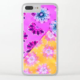 Neon Quilt Clear iPhone Case