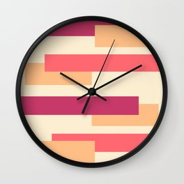 Colored lines and rectangles  Wall Clock