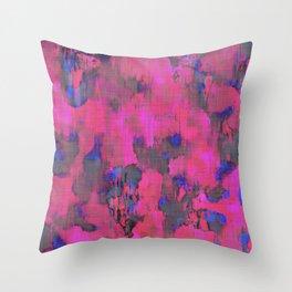 Lysergic Pink Throw Pillow