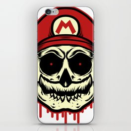 Skull Mario iPhone Skin