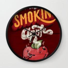 The Smoking Apple Wall Clock