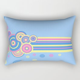 Pastel circles and stripes Rectangular Pillow