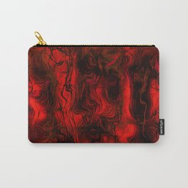 Nervous Energy Grungy Abstract Art  Red And Black Carry-All Pouch