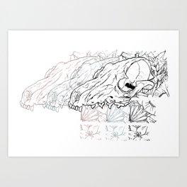 Fox Skull Art Print