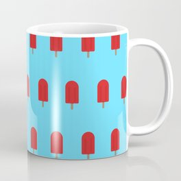 Red Popsicles - Blue Background Coffee Mug