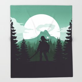 The Legend of Zelda - Green Version Throw Blanket
