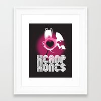 headphones Framed Art Prints featuring ♥ HEADPHONES by THE SILENT P // Matthew Pfahlert