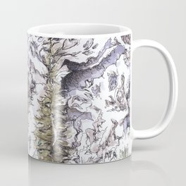 Saribung, Nepal - Watercolor and Ink artwork Coffee Mug