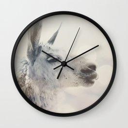 Alpaca in Machu Picchu Wall Clock