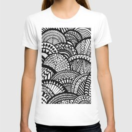 Black Tropical Ethnic Print T-shirt