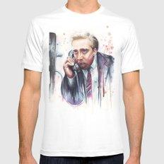 Nicolas Cage MEDIUM White Mens Fitted Tee