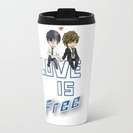 Love is Free Travel Mug