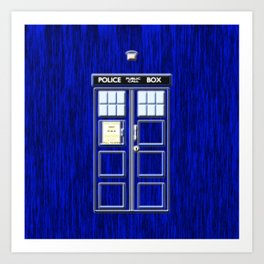 Tardis Time Art Print