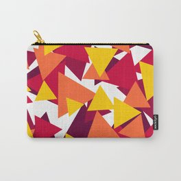 Bright & Warm Triangles Carry-All Pouch