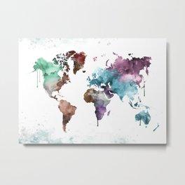 The World Map Metal Print