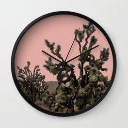 pink joshua tree Wall Clock