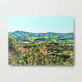 Brisighella: landscape with village Metal Print