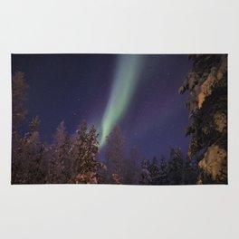 Finland lapland northern lights Rug