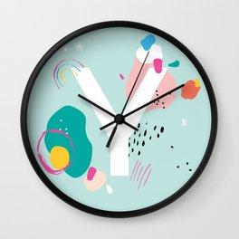 Y Monogram Wall Clock