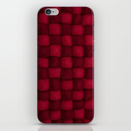 The world of wool - red and wine iPhone Skin