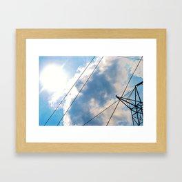 Sky and Lines.  Framed Art Print
