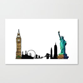 London & New York Canvas Print