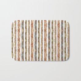 earth stripes Bath Mat