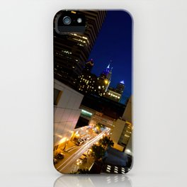 Light Trails in Philly Urban Landscape Night Photograph iPhone Case