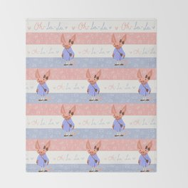 Little Missy  Aardvark in France! Throw Blanket