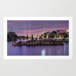 Berlin Purple Art Print