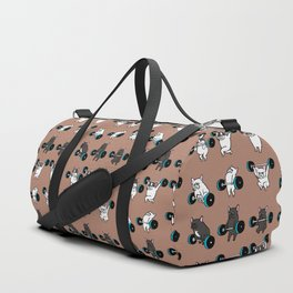 OLYMPIC LIFTING  FRENCH BULLDOG Duffle Bag