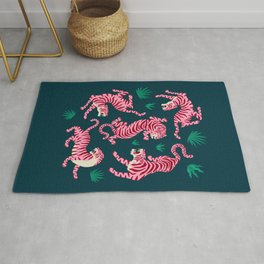 Night Race: Pink Tiger Edition Rug