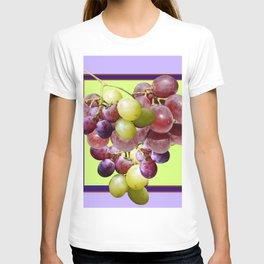 CLUSTER WINE GRAPES VINEYARD DESIGN T-shirt