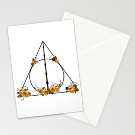 Deathly Hallows in Gold and Gray Stationery Cards