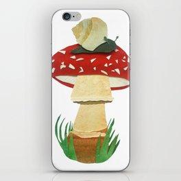 Mushroom & Snail Duo iPhone Skin