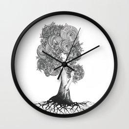 Dryad ink illustration  Wall Clock