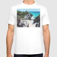Mayan Riviera, Tulum MEDIUM Mens Fitted Tee White